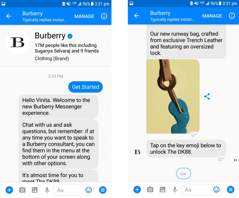 Burberry Messenger Bot