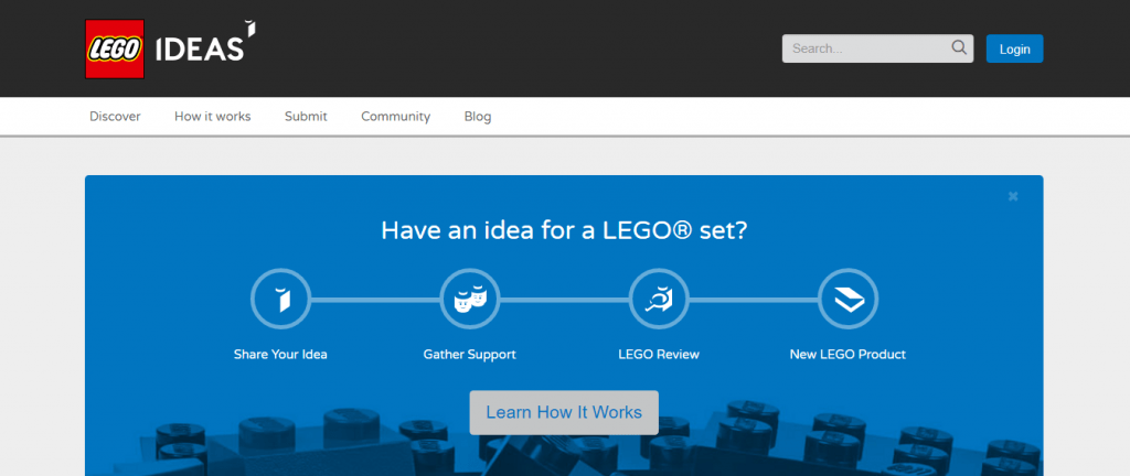 Lego Ideas - crowdsourcing
